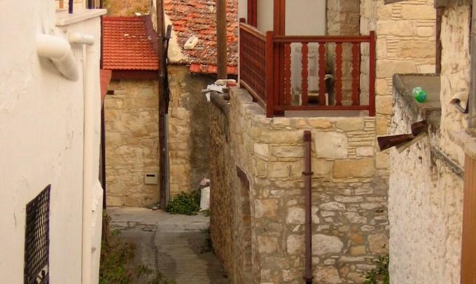 Деревня в горах Троодос, Кипр